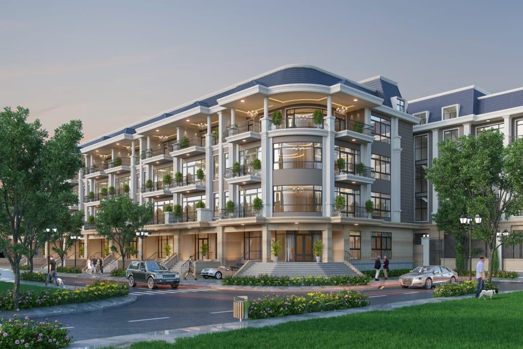 Nhà phố cao cấp ven sông khu đô thị Vạn Phúc với mặt tiền 7m trở lên hoàn toàn đáp ứng nhu cầu kinh doanh của thị trường tiêu dùng, bán lẻ