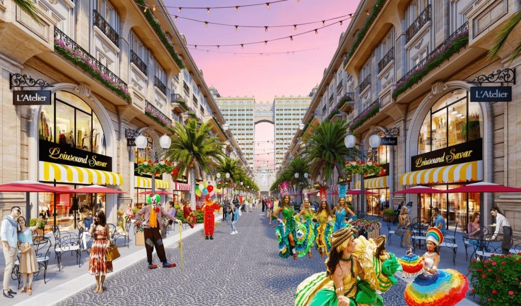 Nằm tại trung tâm Khu đô thị Vạn Phúc, phố đi bộ Royal Vạn Phúc sẽ là tâm điểm thu hút du khách trong và ngoài nước khi đến TP.HCM