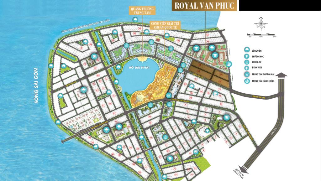 vị trí ROYAL VẠN PHÚC cho ra mắt khu thương mại, giải trí đầu tiên tại khu Đông.