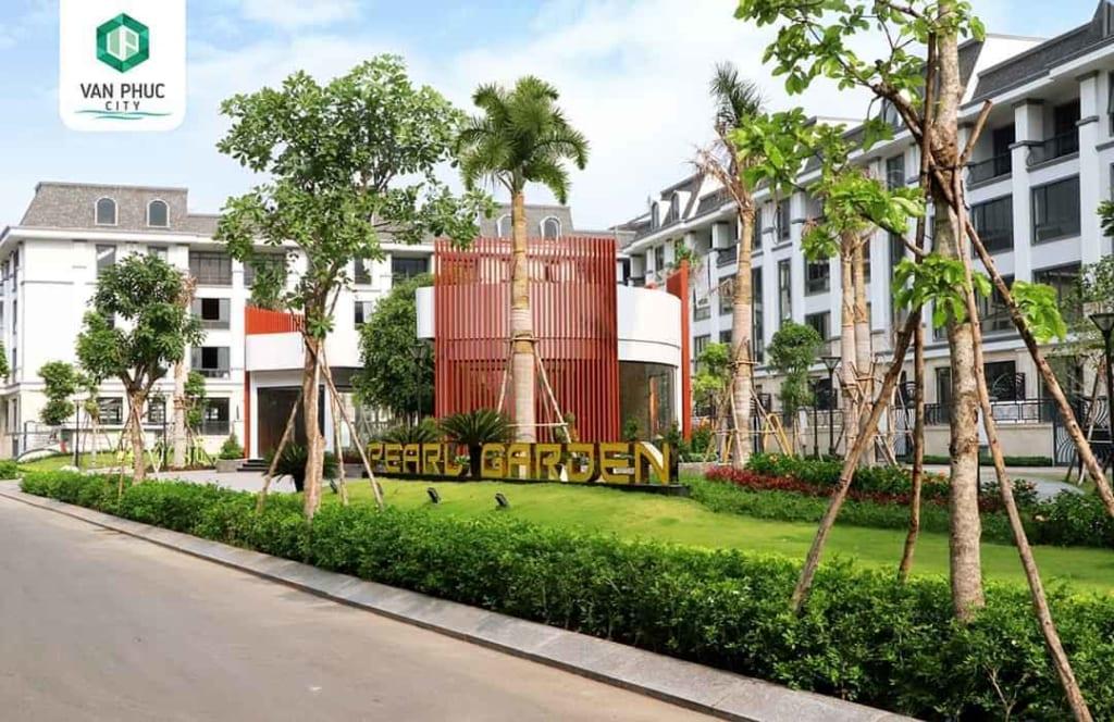 Một góc xanh mát của công viên Pearl Garden vừa được hoàn thiện tại Khu đô thị Vạn Phúc